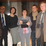 In Milan, with Union members and fellow Ro interpreter